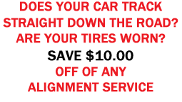 Alignment Service Coupon
