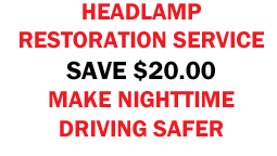 Headlight Restoration Service Coupon